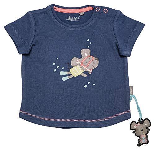 Sigikid Mädchen, Baby T-Shirt, Blau (Costal Fiord Melange 284), (Herstellergröße: 86)
