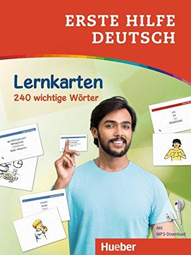 Erste Hilfe Deutsch - Lernkarten: 240 wichtige Wörter / Lernkarten mit kostenlosem MP3 Download