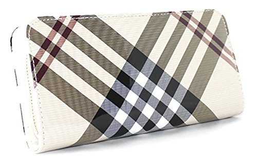 ladies-tartan-design-long-patent-clutch-purse-camel-thomson