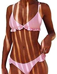 Covermason Mujer Push-up Acolchado Bra Bikini