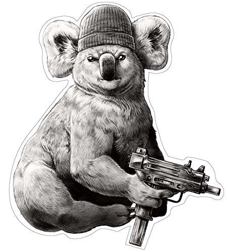 Bad Koala Aufkleber Sticker Coole Motive Gangster ca. 12x10 cm