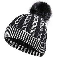 HAOLIEQUAN Stempeln Wintermützen Für Frauen Stricken Hut Mütze Beanie Hat Ladiesthicken Hedging Warm Skullies Female Bone