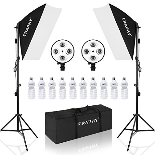 CRAPHY Softbox Focos Kit Iluminacion Estudio Fotografia