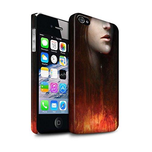 Offiziell Chris Cold Hülle / Matte Snap-On Case für Apple iPhone 4/4S / Schiffswrack Muster / Gefallene Erde Kollektion Tränen der Eva