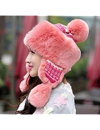 MHGAO Cappello Antivento dell orecchio Cappellino Invernale Ispessimento  Caldo per Le Signore Ushanka 313a413813ca