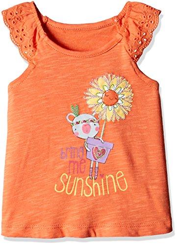 Mothercare Baby Girls' T-Shirt (H9642_Orange_6-9 M)