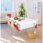 Cflagrant - Tovaglia natalizia rettangolare e anti-macchia per 8-10 coperti, dimensioni: 150 x 200 cm