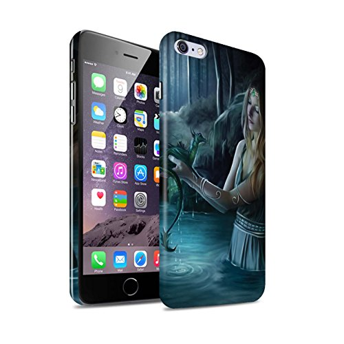 Officiel Elena Dudina Coque / Clipser Brillant Etui pour Apple iPhone 6+/Plus 5.5 / Fille Rouge Design / Dragon Reptile Collection Eau/Bébé