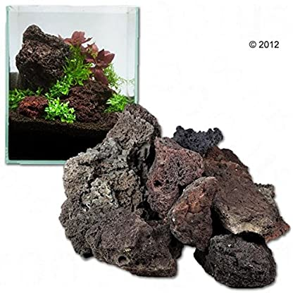 Lava Rock Unique Dark Lightweight with Different Shades and Shapes, Creates Amazing Aquascapes (80 cm Set: 11 natural… 2