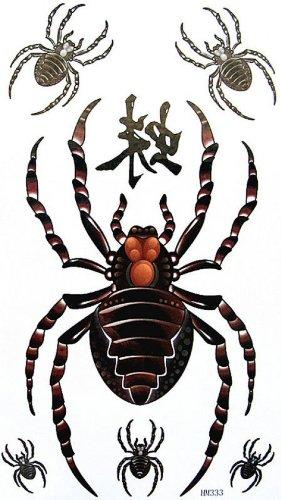 Falso tatuaggi moda sexy stagna e sudore per gli uomini e le donne ragno velenoso