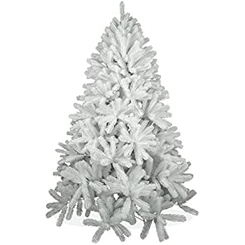 Weißer künstlicher Weihnachtsbaum 180cm in Premium Spritzguss Qualität, weiße Douglastanne, Tannenbaum weiß mit PE Kunststoff Nadeln, Douglasie Christbaum im schneeweißen Design