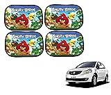 #4: FlyingOnWheels Angry Bird Car Window Sunshades For Maruti Suzuki SX4 - Pack of 4