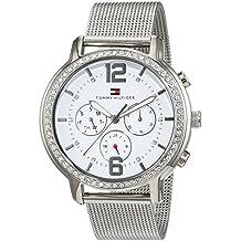 Tommy Hilfiger 1781659 - Reloj análogico de cuarzo con correa de acero inoxidable para mujer, color blanco/plata