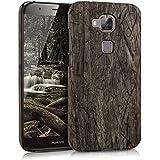 kwmobile Funda Hardcase Diseño madera vintage para Huawei G8 / GX8 en marrón oscuro