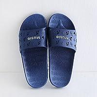 fankou Zapatillas de Mujer Cool Verano Viaje Interior y Exterior Gruesa Inicio Adultos Zapatillas de Baño,39-40, Azul Oscuro de la Música
