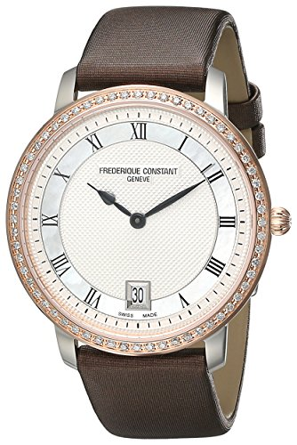Frederique Constant FC-220M4SD32 38mm Stainless Steel Case Brown Satin Anti-Reflective Sapphire Women's Watch