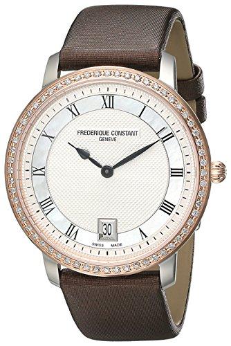 Frederique Constant FC220M4SD32 - Reloj para mujeres, correa de satén color marrón