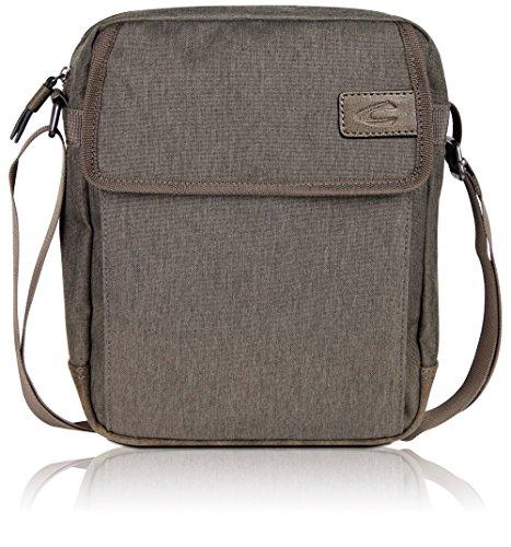 Camel Active Kleine Umhängetasche für Damen und Herren, Schultertasche Messenger Bag Kuriertasche, Beige -