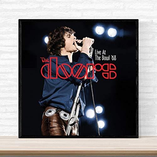 UDIYXC Die Türen Jim Morrison Poster Album Cover Musik Kunstdruck auf Leinwand Wohnkultur Wandkunst No Frame, 80x100cm