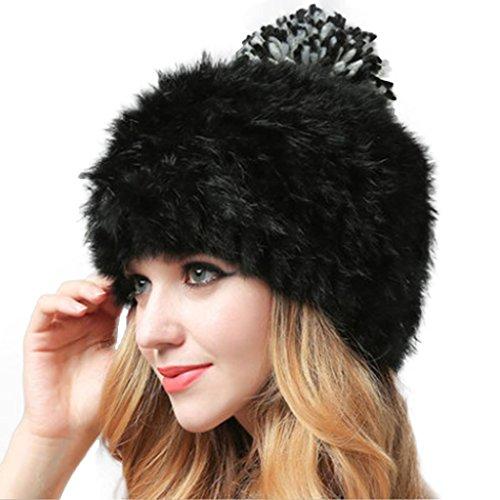 Russische Faux Pelz Hut - MIOIM Damen Mütze Fellmütze Pelzmütze Kaninchen