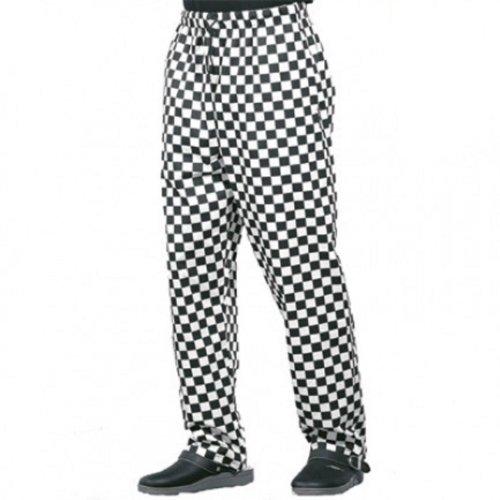 dennys-dc28-unisex-chefs-trousers-s-xxxxl-black-white-xxxxl-52-54-waist