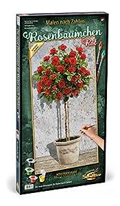 Simba Schipper 609220776 Rose Tree - Pintura por números, Color Rojo