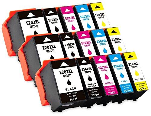 Preisvergleich Produktbild Printing Pleasure 202XL 15 XL Druckerpatronen kompatibel für Epson Expression Premium XP-6000,  XP-6005 / C13T02G74010: C13T02G14010,  C13T02H14010,  C13T02H24010,  C13T02H34010,  C13T02H44010
