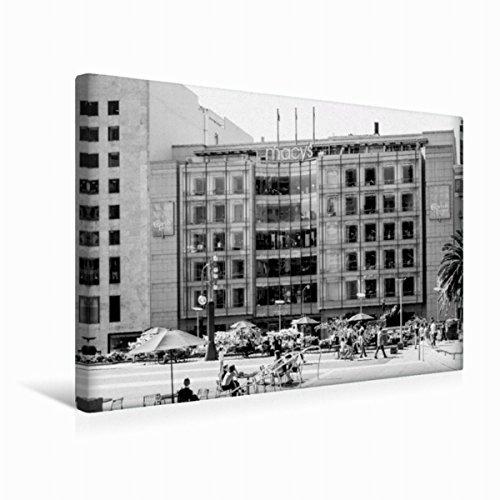 Calvendo Premium Textil-Leinwand 45 cm x 30 cm quer Macys (Downtown) | Wandbild, Bild auf Keilrahmen, Fertigbild auf echter Leinwand, Leinwanddruck Orte Orte
