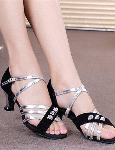 ShangYi Tanzschuhe Nicht Anpassbare - Keilabsatz - Stoff - Latin - Damen Silver