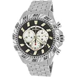 Roberto Bianci Gents 'Pro Racing' Black Burnout Stainless Steel Watch with Black Dial