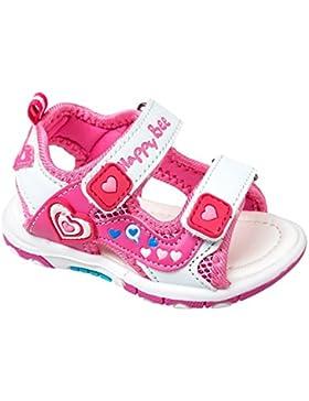 GIBRA® Sandalen für Kinder, mit Klettverschluss, weiß/pink, Gr. 25-30