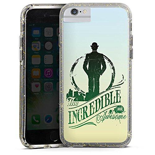 Apple iPhone X Bumper Hülle Bumper Case Glitzer Hülle Incredible Cool Cowboy Bumper Case Glitzer gold