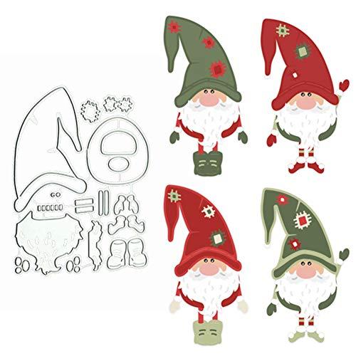 tailor13me Weihnachten Santa Claus Stanzschablone Stanzform, Metall Stanzbögen Stanze Stanzrahmen Schablone zur Scrapbooking Karten Tischkarten Silber
