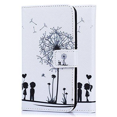tinxi® Kunstleder Tasche für HTC Desire 526G Tasche Schutz Hülle Schale Etui Case Cover Standfunktion mit Karten Slot Zwei liebliche Kinder