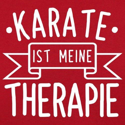 Karate ist meine Therapie - Herren T-Shirt - 13 Farben Rot