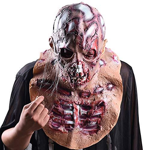h Zombie Kopfbedeckung Latex Voller Kopf Maske Gruselig Karneval Maske für Halloween,Zimmer Flucht,Spukhaus Dekoration ()