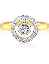 IskiUski The Ignis Diamond Ring 14Kt Swarovski Crystal Yellow Gold Ring For Women