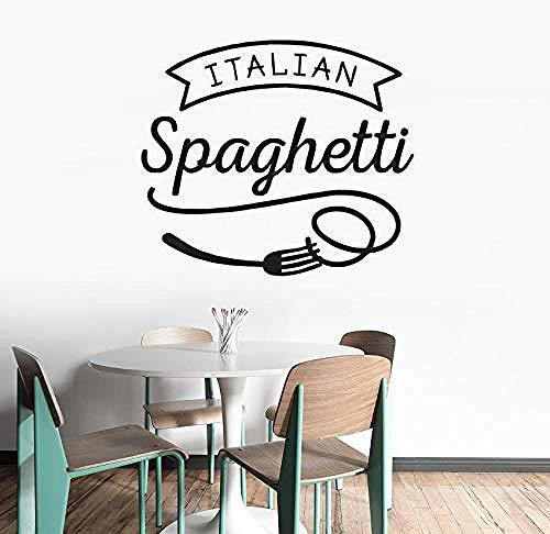 Zykang Spaghetti Vinyl Wand Applique Restaurant Küche Dekoration Nudelgerichte Design Wandkunst Aufkleber Fenster Vinyl Poster 57X49 Cm