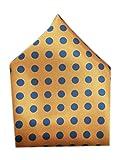 Blacksmith Yellow Polka Dot Pocket Square for Men