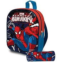 8e5e2db02f Zaino Zainetto Marvel Spiderman Asilo con Astuccio Tombolino Kit Uomo Ragno  per Bambini Scuola