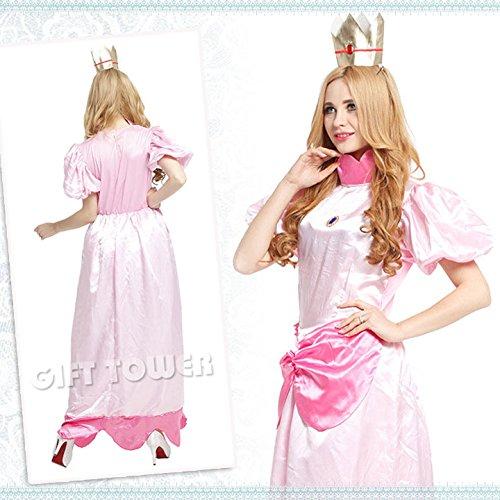Imagen de al estilo de luigi de cosplay de halloween princesa peach de mario super mario wario traje del traje del vestido de lujo del partido de halloween de halloween para santa atractiva disney traje de cosplay mercancias de disfraces alternativa