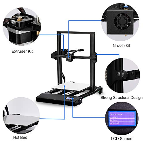 Sunlu 3D Printer, Semi-assembly, Nozzle & Heated for PLA, ABS, PETG, HIPS, WOOD, PLA Carbon Fiber with Build Volume 310 × 310 × 400 mm, for Home Use & Beginner - 3