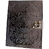 handmadecraft grande de árbol de la vida Diario de piel diario cuaderno de piel de para escribir Diary hecho a mano Diario de piel
