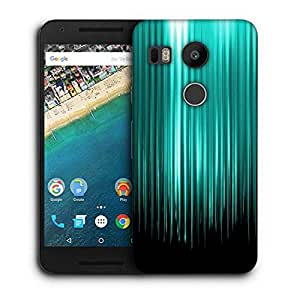 Snoogg Cyan Rays Printed Protective Phone Back Case Cover For LG Google Nexus 5X