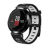 Flying Hedwig Smart Watch Bluetooth Sportuhr M10 Senioren Blutdruck Gesundheit ,Schrittzähler, Schlafanalyse , Smart Wear (Schwarz+Grau)