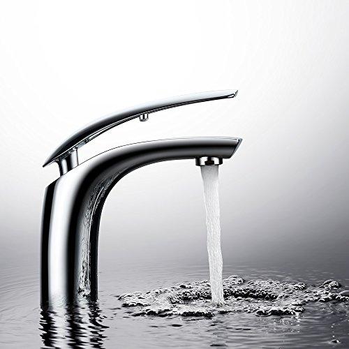 rhahn Bad Waschtisch Armatur Waschbecken Einhebelmischer Waschtischarmatur Mischbatterie Waschbeckenarmatur für Bad ()