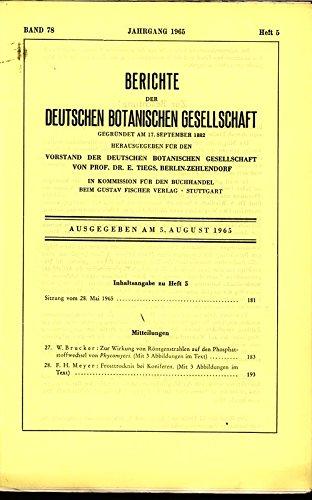Frosttrocknis bei Koniferen, in: BERICHTE DER DEUTSCHEN BOTANISCHEN GESELLSCHAFT, 5. August 1965, Band 78, Heft 5.