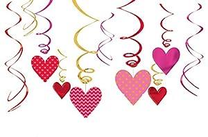 Amscan-670512decoraciones de remolino de día de San Valentín