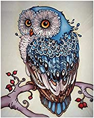 Diamond Painting Kit Full Diamond Owl Embroidery Rhinestone Cross Stitch Arts Craft Supply for Home Wall Decor