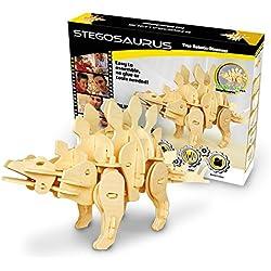 Robotime Madera Jigsaw Puzzle 3D dinosaurios Montar Wood Craft Mejor Cumpleaños Regalos De Navidad Para Niños Para Adultos (Mini Stegosaurus)